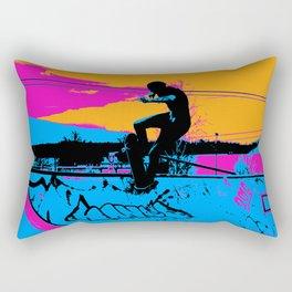 On Edge - Skateboarder Rectangular Pillow