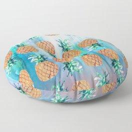 Pineapple Beach Aqua Floor Pillow