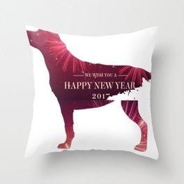 dog 2017 T-Shirt copy Throw Pillow