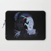 starwars Laptop Sleeves featuring Starwars with unicorns (black) by Jonah Makes Artstuff