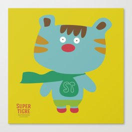 """Super Tigre"" Canvas Print"