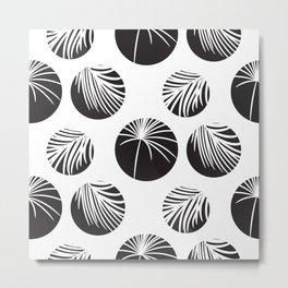 Palm leaves in circles Metal Print