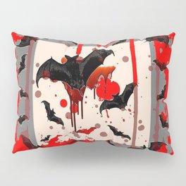 BLACK BATS & HALLOWEEN BLOODY ART DESIGNED Pillow Sham