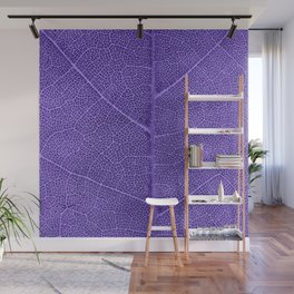 Neon Purple Leaf with Veins Wall Mural