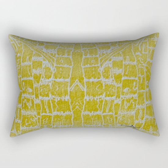 Yellow Sugarcane Rectangular Pillow