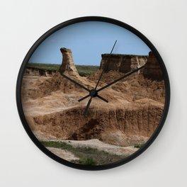 Badlands Rockformation Wall Clock
