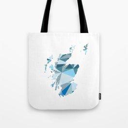 Scotland Pattern Map Art Tote Bag