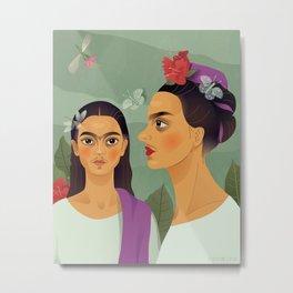 Frida's Makeover/under Metal Print