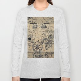 Old Nautical Map Long Sleeve T-shirt