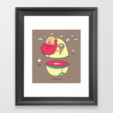What Came First? Framed Art Print