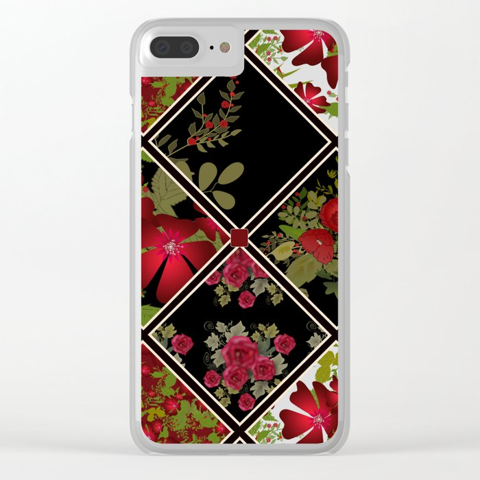 Floral folk patchwork. Ethnic Clear iPhone Case