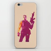 winter soldier iPhone & iPod Skins featuring Winter Soldier by Simon Alenius