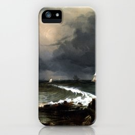 Conrad Martens View of the Heads, Port Jackson iPhone Case