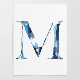 Letterforms M : Margo Poster