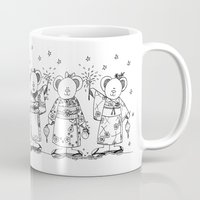 Japanese Summer Festival Bears Mug