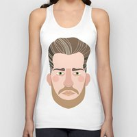 cassandra jean Tank Tops featuring Jean by empi morin