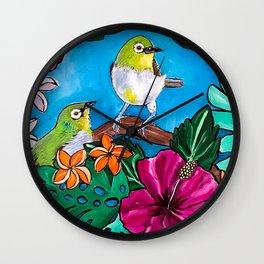 Tropical Tweets Wall Clock