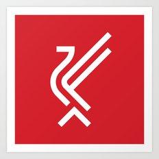 LFC Liverbird Type Logo Art Print