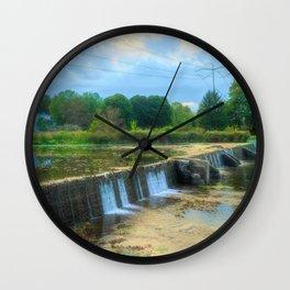 Wehr's Dam in October Wall Clock