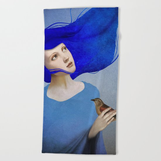 Night Bird Beach Towel