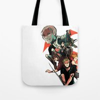the mortal instruments Tote Bags featuring The Mortal Instruments by The Radioactive Peach