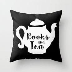 Books and Tea - Inverted Throw Pillow