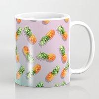 pineapple Mugs featuring Pineapple by mark ashkenazi