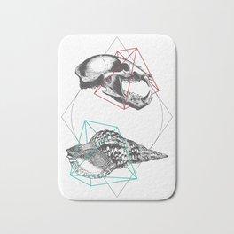 Skull and a Sea Shell Bath Mat