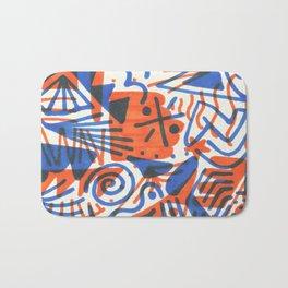Abstract - Copenhagen and Vermillion Bath Mat