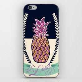pineapple stuff iPhone Skin