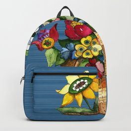 A Basket of Flowers Backpack
