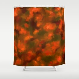 Red, Orange Floral Abstract Shower Curtain