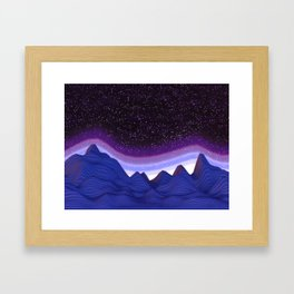 Mountains in Space Framed Art Print