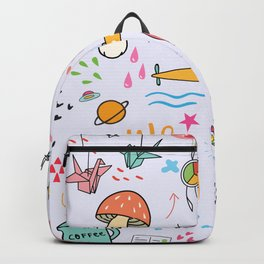 Doodle Tattoo Pop Art - unicorn, space, boho doodles Backpack