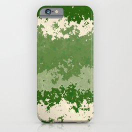 Tones of Green Abstract Lines iPhone Case