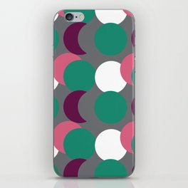Overlapping Dots iPhone Skin