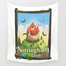 Nottingham Castle Travel poster Wall Tapestry