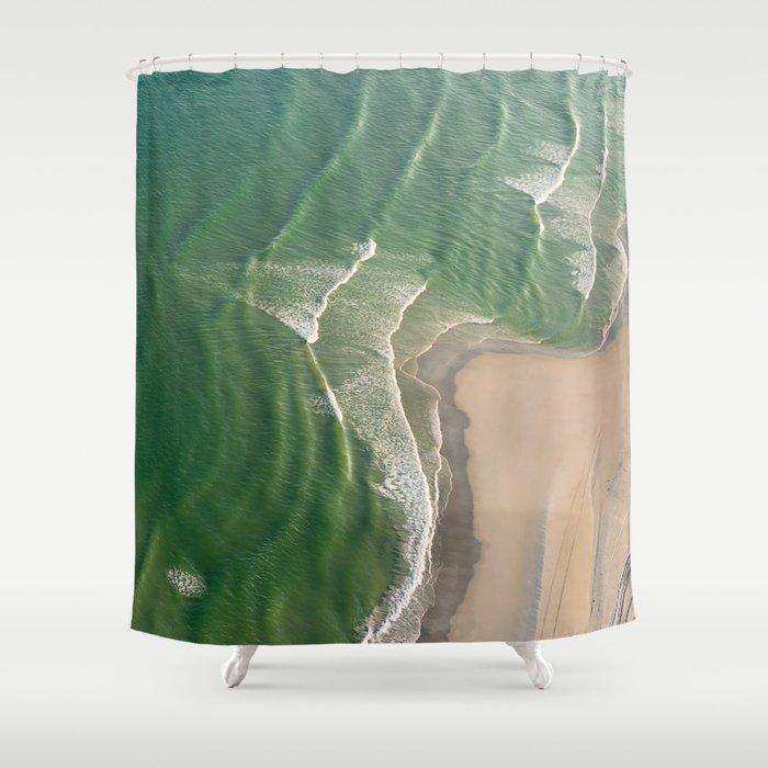 Green Velvet Shower Curtain by createevoke | Society6