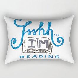 Ssshh... I´m reading! Rectangular Pillow