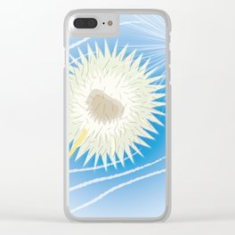 Dandelion in the wind Clear iPhone Case
