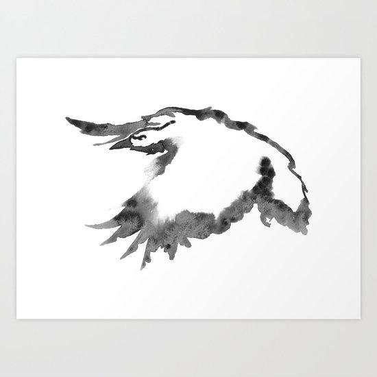 One For Sorrow Art Print