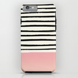 Blush x Stripes iPhone Case
