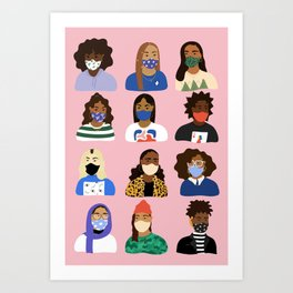 Masked Up Art Print