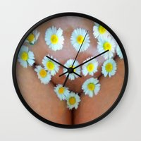 cunt Wall Clocks featuring funny painting BDSM fetish Big dick cock suck oral sex pussy cunt transgender fuck slut bitch by Velveteen Rodent