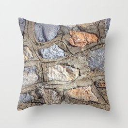 Cobblestones Cladding Wall Throw Pillow
