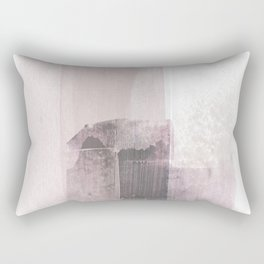 Blush Pink Minimalist Abstract Painting Rectangular Pillow