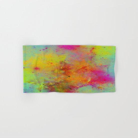 Rainbow Galaxy - Abstract, rainbow coloured space painting Hand & Bath Towel