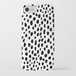 Dalmatian Spots (black/white) iPhone Case