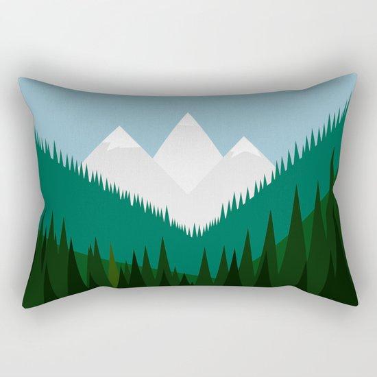 Pacific Northwest Mountains Rectangular Pillow