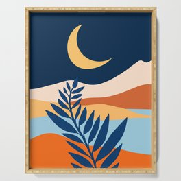 Moon + Night Bloomer / Mountain Landscape Serving Tray